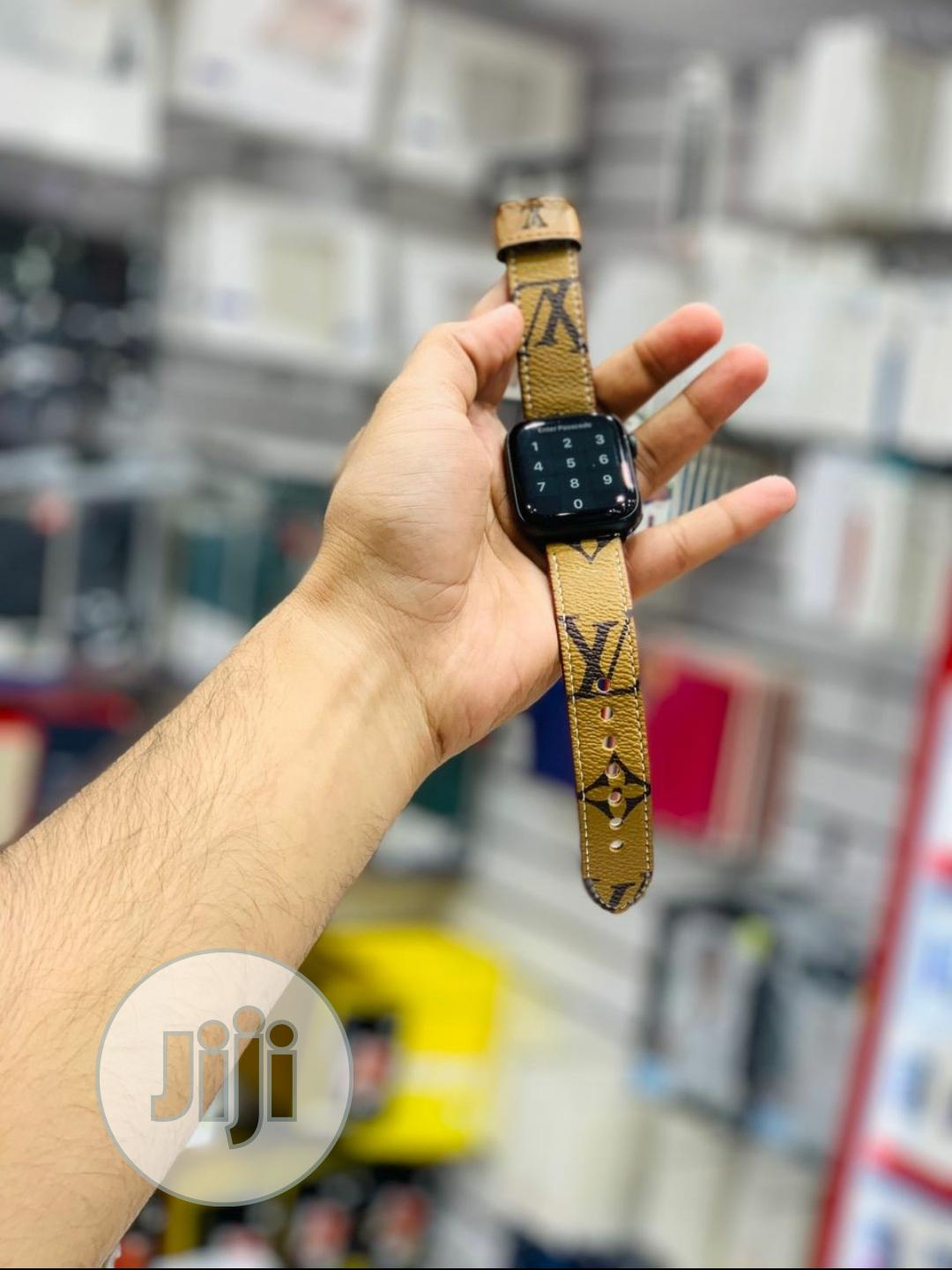 Louis Vuitton Strap For Apple Series Watch   Smart Watches & Trackers for sale in Ikeja, Lagos State, Nigeria