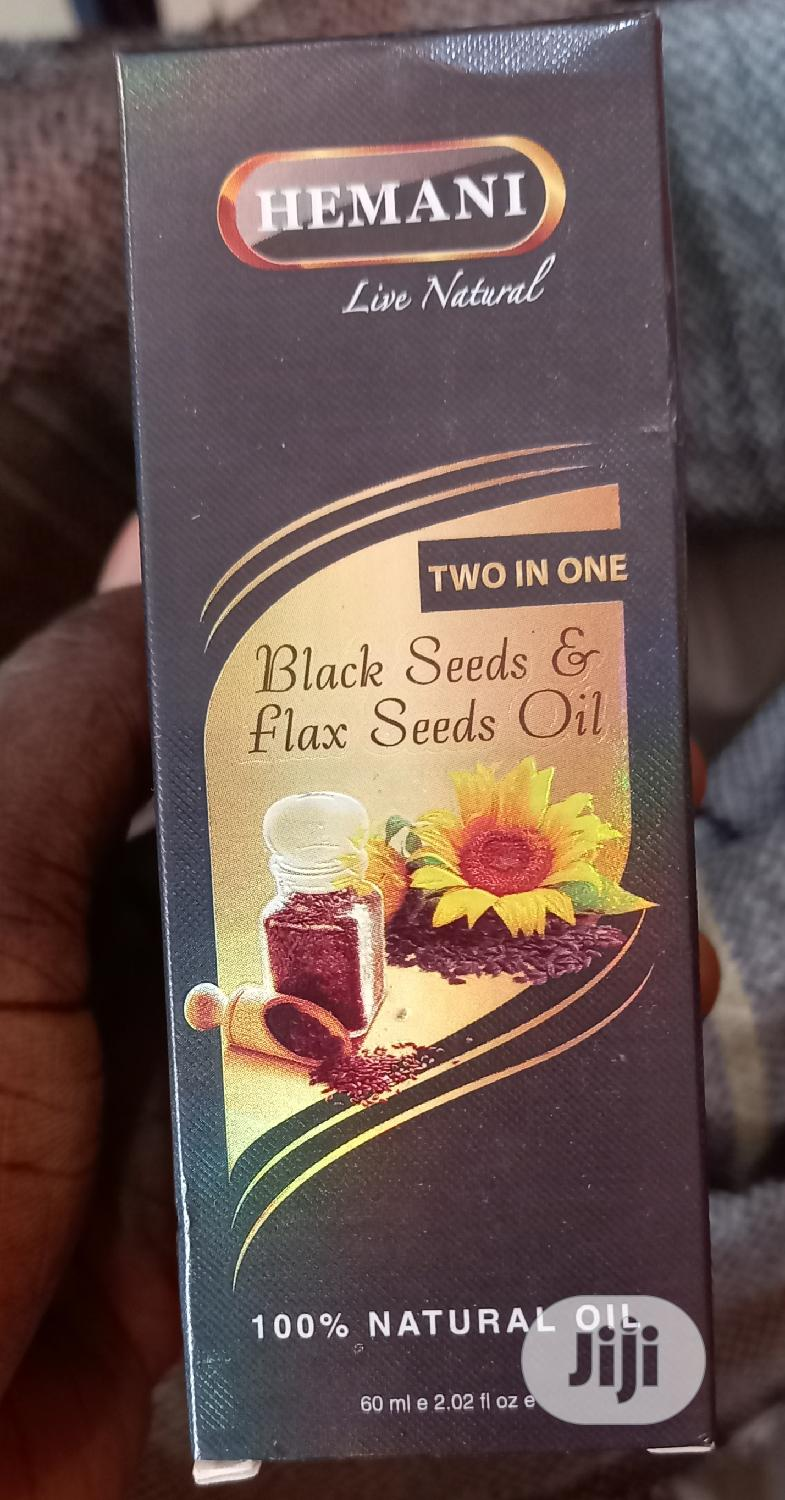 Archive: Hemani Black Seed And Flaxseed Oil Two In One