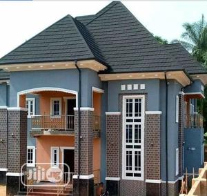 Charcoal Black Shingles With Black Gutter Finishing | Building Materials for sale in Lagos State, Lekki