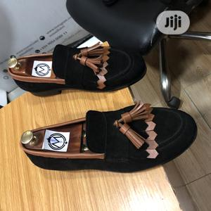 Black Suede Loafers With Golden Brown Tassel | Shoes for sale in Lagos State, Mushin