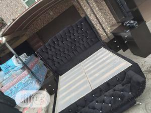 6by6 Upholstery Bedframe Complete Set   Furniture for sale in Lagos State, Abule Egba