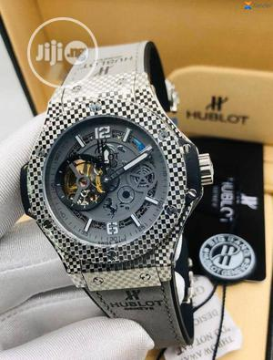 Hublot Leather Wrist Watch High Quality With Guarantee | Watches for sale in Lagos State, Lagos Island (Eko)