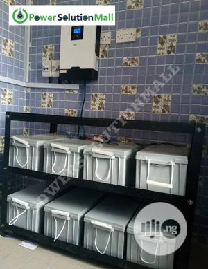 5kva Hybrid Inverter With 8 Batteries & Solar Installation | Solar Energy for sale in Lagos State, Ajah