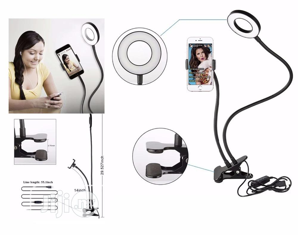 Professional Selfie Ring Light + Phone Holder   Accessories for Mobile Phones & Tablets for sale in Ikeja, Lagos State, Nigeria