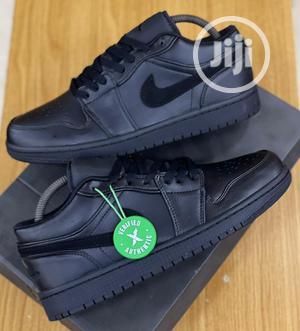 Nike Air Jordan 1 Low Triple Black Sneakers Original | Shoes for sale in Lagos State, Surulere