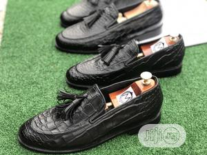 Black Skin Tassel Loafers , Big Size | Shoes for sale in Lagos State, Mushin