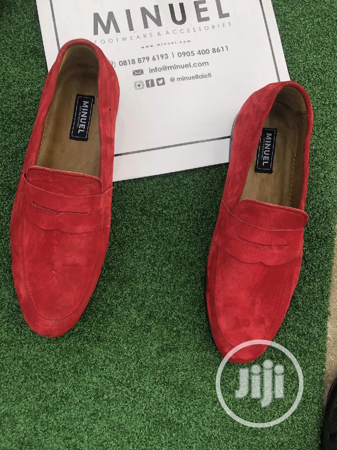 Red Suede Penny Loafers   Shoes for sale in Lekki, Lagos State, Nigeria