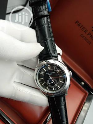 High Quality Patek Philippe Black Dial Leather Watch   Watches for sale in Lagos State, Magodo