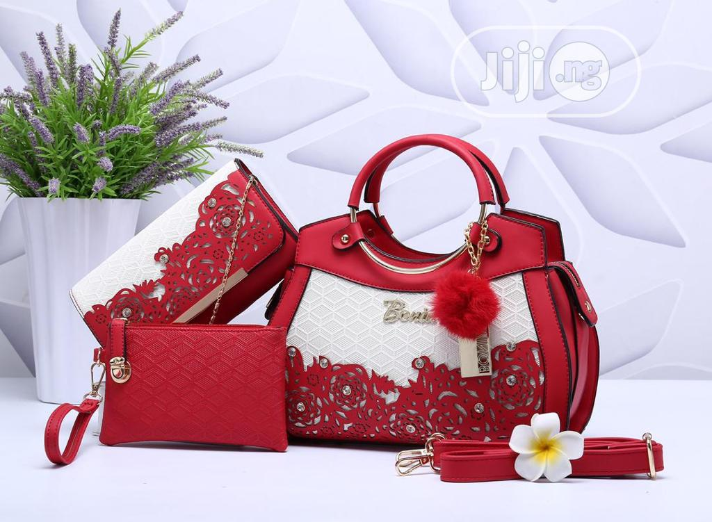 Classic Female Turkey Red Handbag