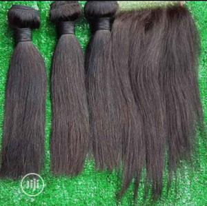 14inches Brazilian Hair With Closure   Hair Beauty for sale in Lagos State, Ikeja