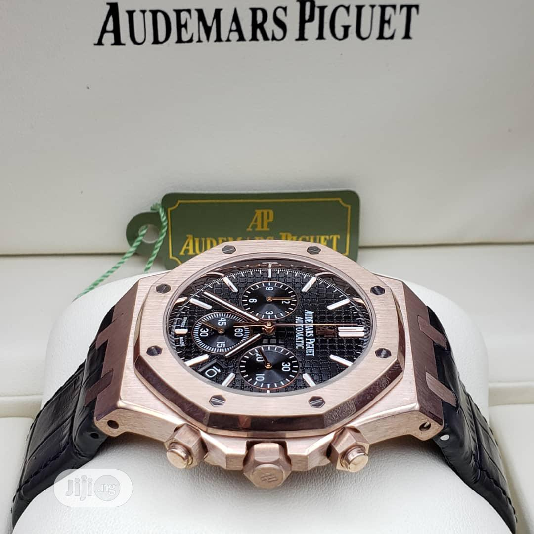 High Quality Audemars Piguet Number Dial Leather Watch