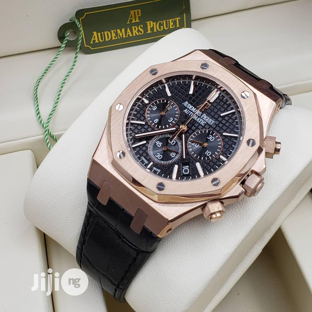 High Quality Audemars Piguet Number Dial Leather Watch   Watches for sale in Magodo, Lagos State, Nigeria