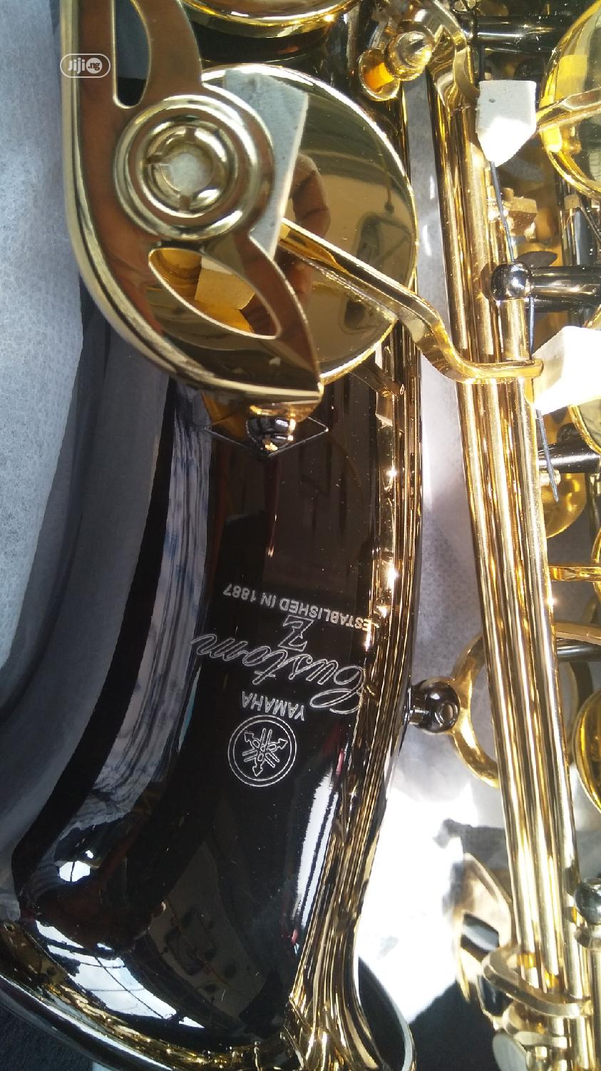 Original Prof Yamaha Alto Saxophone, Black and Gold Colour | Musical Instruments & Gear for sale in Ikeja, Lagos State, Nigeria