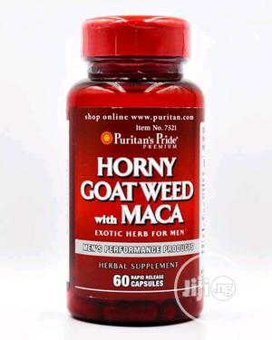 Puritan's Pride Horny Goat Weed With MACA X 60 | Sexual Wellness for sale in Lagos State, Surulere