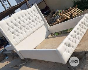 King's Size Leather Padded Bed Frame   Furniture for sale in Lagos State, Ojo