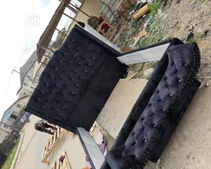 6×6 Upholstery Bed Frame With Foot Stool | Furniture for sale in Lagos State, Ojo