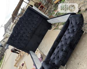 King's Size Padded Upholstery Bed | Furniture for sale in Lagos State, Ojo