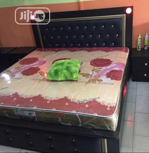 High Quality Luxury Bed With 2 Bed Side Drawer   Furniture for sale in Lagos State, Ajah