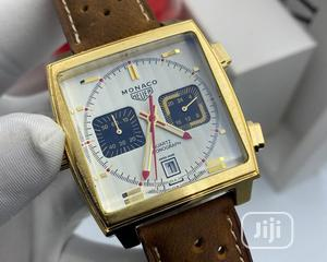 Chronograph Leather Luxury Sport Men's Wristwatch. | Watches for sale in Lagos State, Lagos Island (Eko)