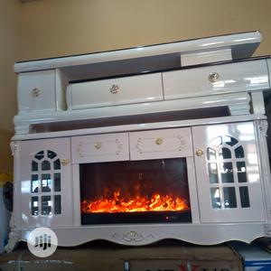 Marble TV Stand With Firelight   Furniture for sale in Lagos State, Ikeja
