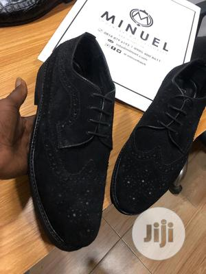 Black Suede Brouges Laced Shoe | Shoes for sale in Lagos State, Mushin