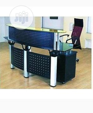 New Black Glass Reception Table With Mobile Drawers | Furniture for sale in Abuja (FCT) State, Wuse 2