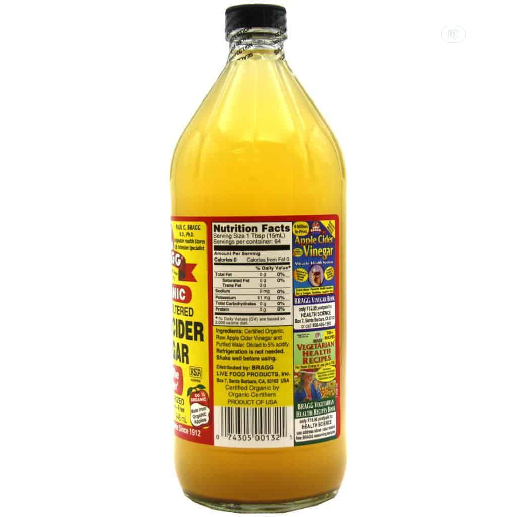 Original Bragg Apple Cider Vinegar 946ml (Big Bottle)   Meals & Drinks for sale in Lekki, Lagos State, Nigeria