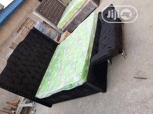 7×6 Padded Upholstery Bed Frame With Mattress | Furniture for sale in Lagos State, Ojo