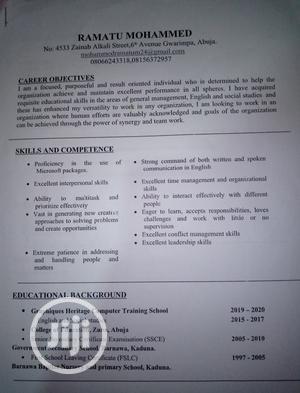 Teaching CV | Teaching CVs for sale in Abuja (FCT) State, Gwarinpa