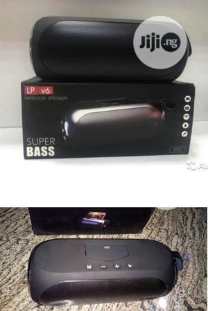 Lp V6 Super Bass Wireless Speaker Black With Phone Stand   Audio & Music Equipment for sale in Lagos State, Ikeja