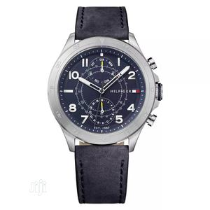 High Quality Tommy Hilfiger Number Dial Leather Watch   Watches for sale in Lagos State, Magodo