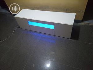 White Tv Stand With Light | Furniture for sale in Lagos State, Ogba