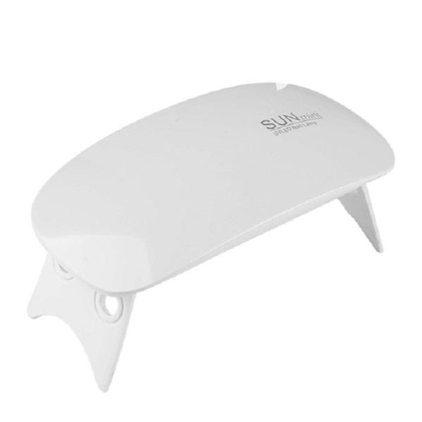 Portable Sun Mini 6W Uv Led Lamp Nail Dryer - White | Tools & Accessories for sale in Surulere, Lagos State, Nigeria