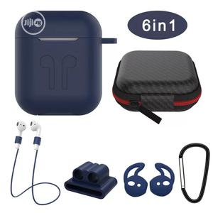 Ear-pod Silicone Case With Antilost Strap & Carabiner   Accessories for Mobile Phones & Tablets for sale in Lagos State, Amuwo-Odofin
