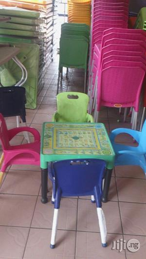 Adorable Kids Alphabets Plastic Chairs And Tables   Children's Furniture for sale in Lagos State