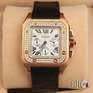 Cartier Chronograph Leather Wristwatch   Watches for sale in Lagos State, Oshodi