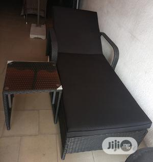 Very Classic Sun Lounger Rattan Relaxing Bed With Side Table   Furniture for sale in Abuja (FCT) State, Apo District