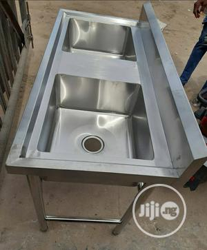Double Sink Bowl Stainless | Restaurant & Catering Equipment for sale in Lagos State, Ojo