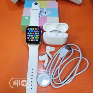 T500 Smartwatch Ad Airpod Pro   Smart Watches & Trackers for sale in Lagos State, Ikeja