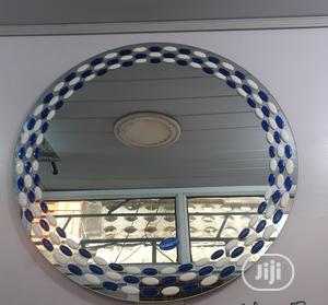 Plain Round Mirror With Designed Edge | Home Accessories for sale in Lagos State, Surulere