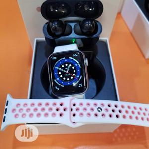 W26 Smartwatch Series 6 Plus Airpod And Free Strap   Smart Watches & Trackers for sale in Lagos State, Ikeja