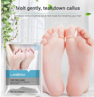 Lanbena Exfoliation Foot Peel Mask With Botanical Extracts | Skin Care for sale in Lagos State, Surulere