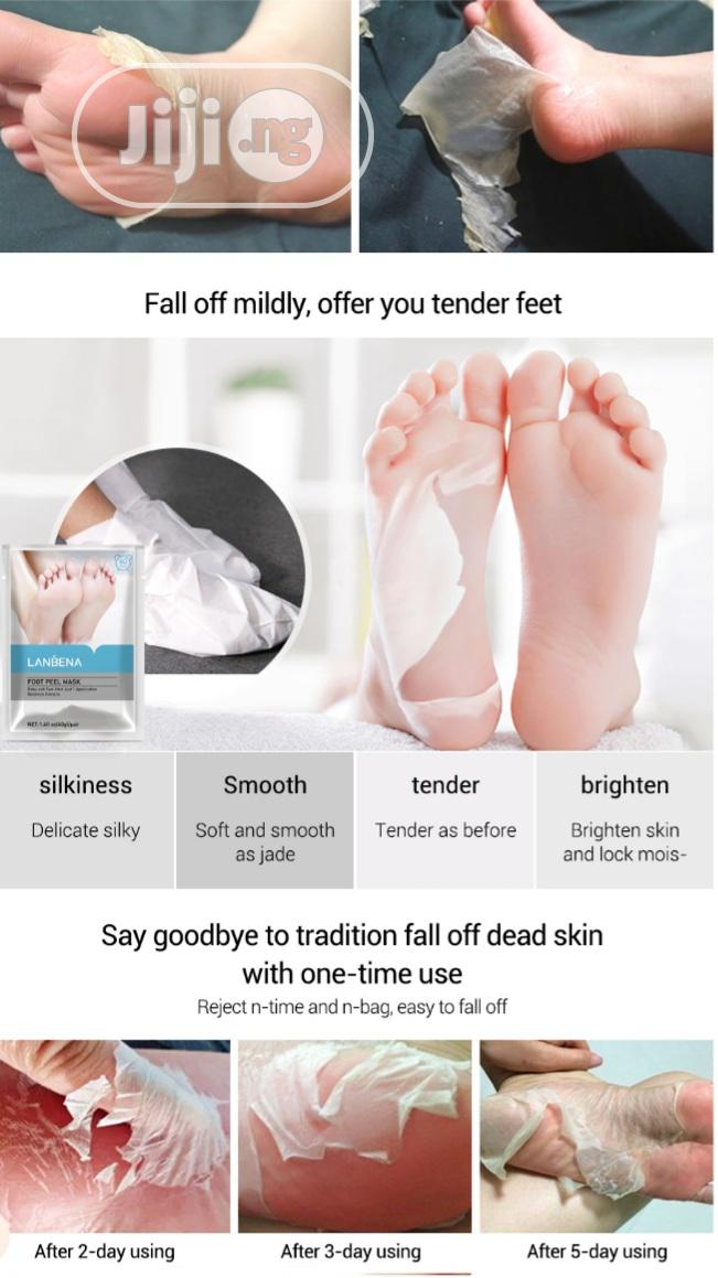 Lanbena Exfoliation Foot Peel Mask With Botanical Extracts   Skin Care for sale in Surulere, Lagos State, Nigeria
