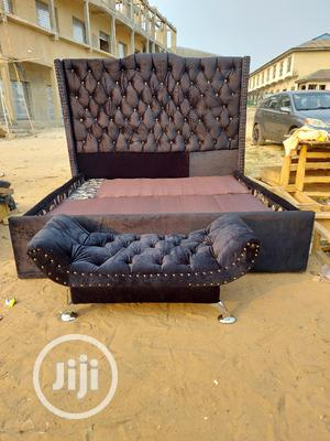 Well Designed 6by6 Upholstery Bedframe With Footrest   Furniture for sale in Lagos State, Ajah