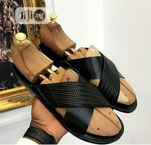 Classic Male Black Palm Slippers | Shoes for sale in Lagos State, Ifako-Ijaiye