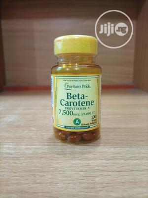 Puritan's Pride Beta Carotene 7,500mcg (25,000IU) X 100   Vitamins & Supplements for sale in Lagos State, Surulere