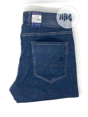 Polo Ralph Lauren Navy Blue Jeans Original | Clothing for sale in Lagos State, Surulere