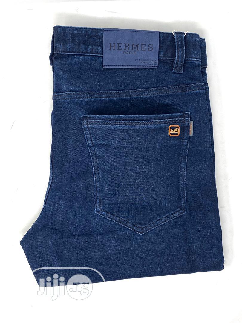 Hermes Navy Blue Jeans Original