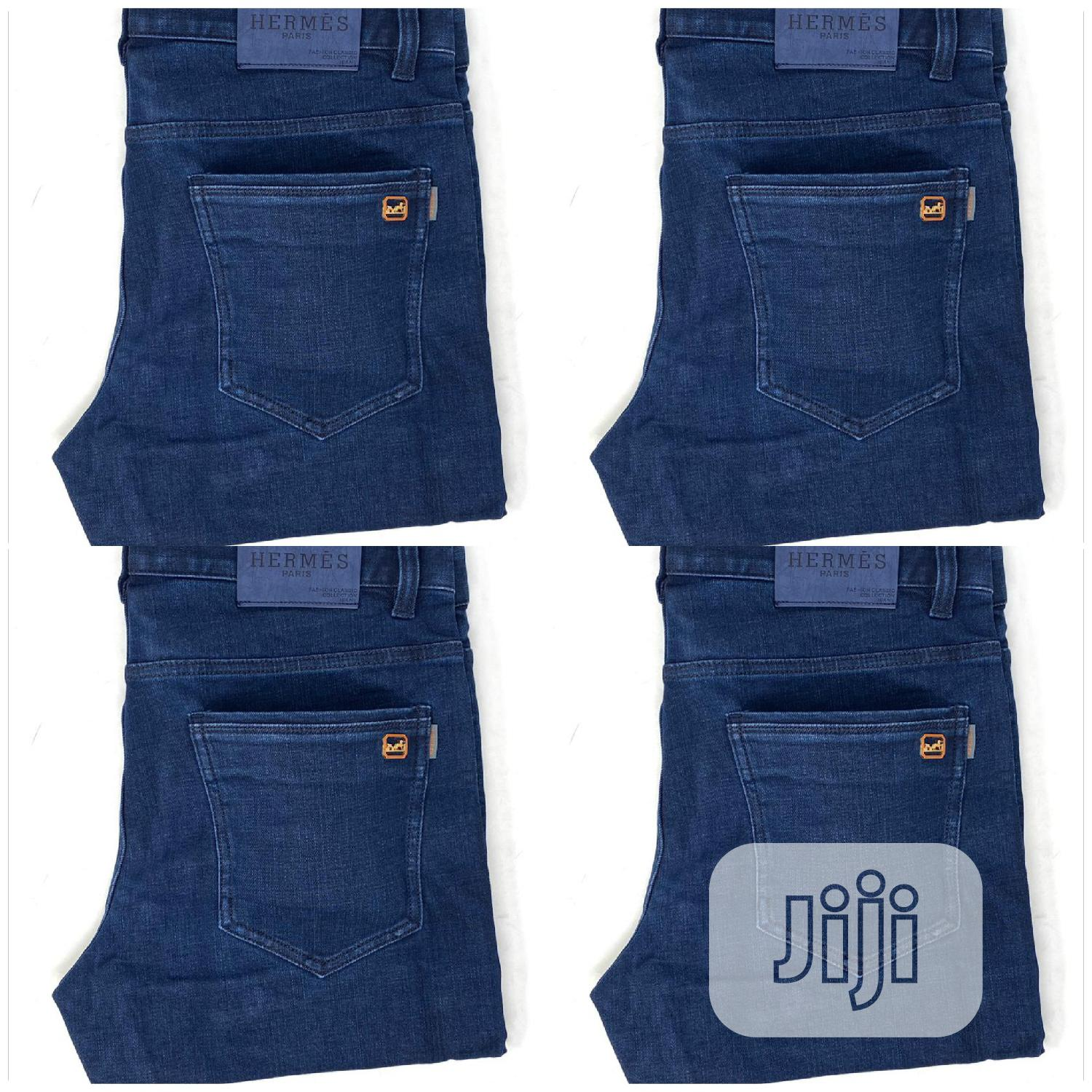 Hermes Navy Blue Jeans Original | Clothing for sale in Surulere, Lagos State, Nigeria