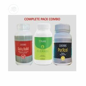 Live Pure Purxcel, Cleanse And Daily Build | Vitamins & Supplements for sale in Lagos State, Agege